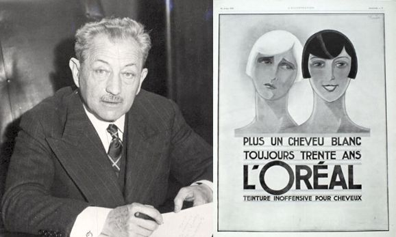 Eugene Schueller and Loreal Poster