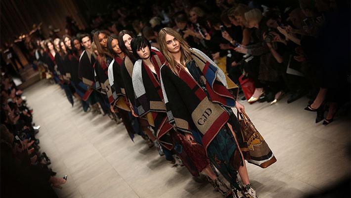 London Fashion Week runway 2013