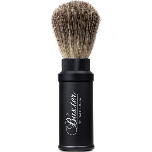 Aluminum Travel Badger Shave Brush Accessories, Shave by BAXTER OF CALIFORNIA